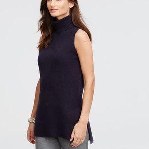 Ann Taylor sleeveless turtle neck sweater